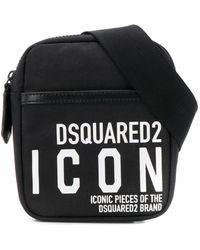 DSquared² Icon Heuptas Met Print - Zwart