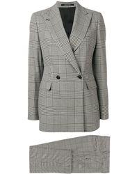 Tagliatore Plaid Two-piece Suit - Black