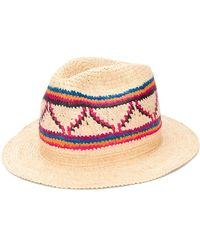 SuperDuper Hats Плетеная Шляпа-федора - Многоцветный
