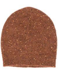 Fabiana Filippi Sequin-embellished Beanie Hat - Brown