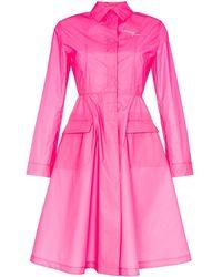 Palm Angels フレア ウインドブレーカー - ピンク
