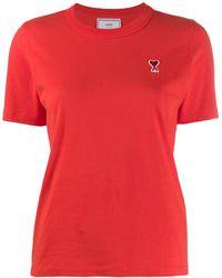 AMI De Coeur Patch T-shirt - レッド