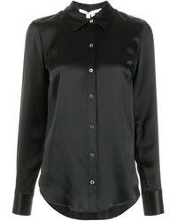Veronica Beard Morgane シルクシャツ - ブラック