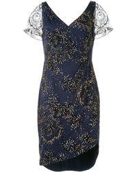 Marchesa notte グリッター ドレス - ブルー