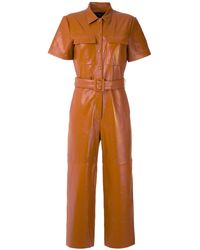 EVA レザー ジャンプスーツ - ブラウン