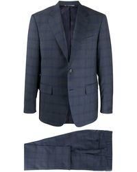 Canali Zweiteiliger Anzug - Blau