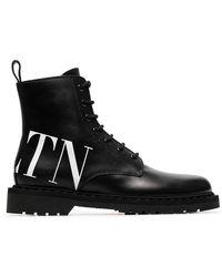 Valentino - Garavani Vltn Combat Boots - Lyst