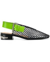 Toga Pulla Flat Mesh Ballerina Shoes - Black