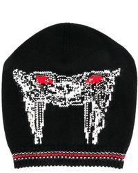 Ermanno Scervino Cashmere embellished beanie - Negro