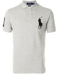 Polo Embroidered Big Gray Shirt Pony gfmIYyvb76