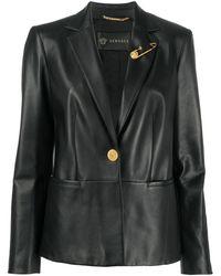 Versace - レザージャケット - Lyst