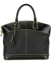 Louis Vuitton 2006 Lockit Mm Tote Bag - Black