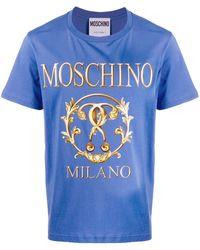 Moschino ロゴ Tシャツ - ブルー