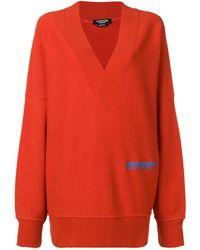 CALVIN KLEIN 205W39NYC Vネック スウェットシャツ - レッド