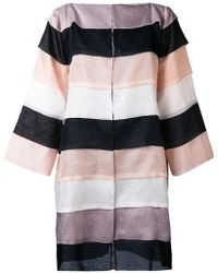 Gianluca Capannolo - Striped Oversized Coat - Lyst