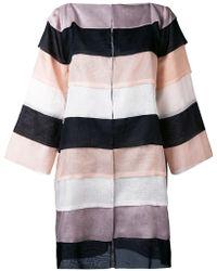 Gianluca Capannolo | Striped Oversized Coat | Lyst