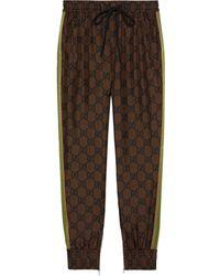 Gucci GG Supreme Print Track Pants - Brown