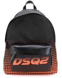 DSquared² Rucksack mit Logo - Schwarz
