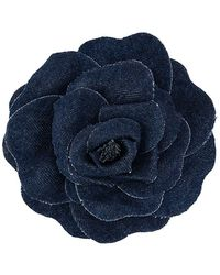 Philosophy Di Lorenzo Serafini Denim Flower Brooch - Blue