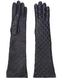 Manokhi Gants à détails de coutures - Noir