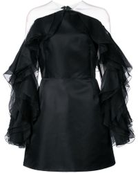 Marchesa - Kleid mit Rüschen - Lyst