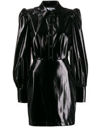 MSGM Puff-sleeve Dress - Zwart