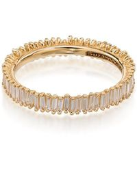 Suzanne Kalan 18kt Gold Fireworks Eternity Diamond Ring - Metallic
