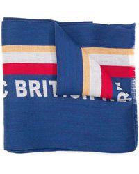 Kent & Curwen Sciarpa con slogan - Blu