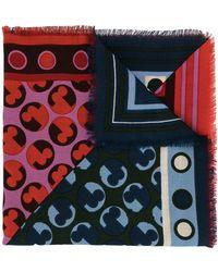 Tory Burch ロゴ スカーフ - レッド