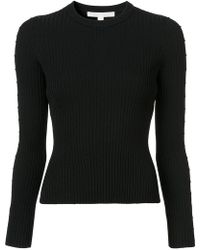 Jonathan Simkhai - Cut Out Sleeve Ribbed Sweater - Lyst