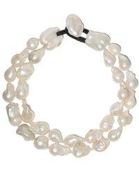 Monies Double Pearl Necklace - Multicolour