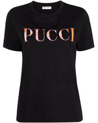 Emilio Pucci - Logo Print T-shirt - Lyst