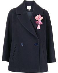 Delpozo ワイド ジャケット - ブルー