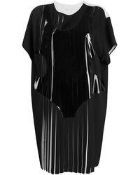 Maison Margiela プリーツ Tシャツドレス - ブラック