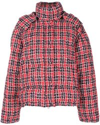 Gucci Tweed Puffer Jacket - レッド