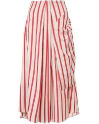 Christopher Esber - Multi-tuck Drape Skirt - Lyst