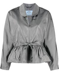 Prada Jacke mit Taillenzug - Grau
