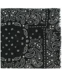 Alanui Paisley Print Scarf - Black