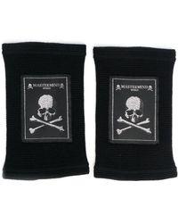 Mastermind Japan Skull-patch Wrist Straps - Black