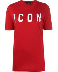 DSquared² Icon T-shirt - Rood
