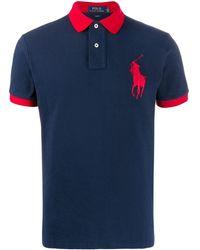Polo Ralph Lauren Poloshirt Met Borduurwerk - Blauw