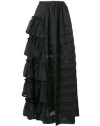 Isa Arfen - Long Flared Skirt - Lyst
