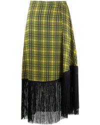 ROKH - チェック スカート - Lyst