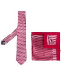 Lanvin - Set de corbata y pañuelo - Lyst