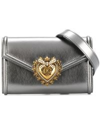 Dolce & Gabbana Devotion ベルトバッグ - メタリック