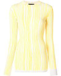 CALVIN KLEIN 205W39NYC - Striped Sweater - Lyst