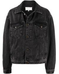 Maison Margiela Boxy Fit Denim Jacket - Black