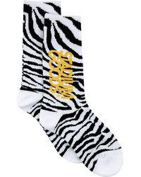 Stadium Goods Zebra-pattern Socks - White