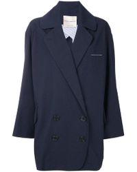Erika Cavallini Semi Couture | Oversized Button Up Jacket | Lyst