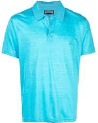 Vilebrequin オープンカラー ポロシャツ - ブルー